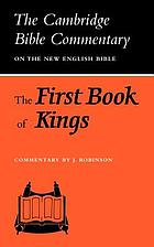 The first book of Kings.