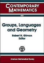 Groups, languages, and geometry : 1998 AMS-IMS-SIAM Joint Summer Research Conference on Geometric Group Theory and Computer Science, July 5-9, 1998, Mount Holyoke College