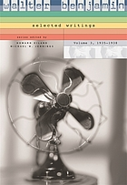 Walter Benjamin : selected writings. Vol. 3, 1935-1938