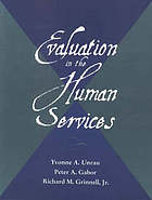 Evaluation in the human services
