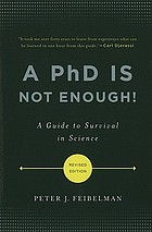 "Cover of the book ""The A PhD is not enough!"""