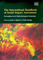 The international handbook of social impact assessment : conceptual and methodological advances