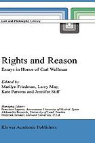 Rights and reason : essays in honor of Carl Wellman