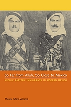 So far from Allah, so close to Mexico : Middle Eastern immigrants in modern Mexico