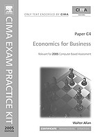 Economics for business : certificate level