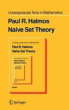 Naive set theory,