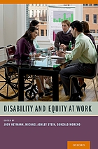 Disability and equity at work