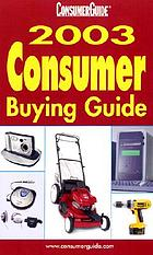 ConsumerGuide 2003 consumer buying guide