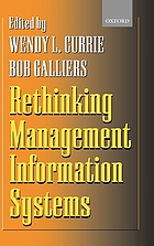 Rethinking management information systems : an interdisciplinary perspective