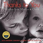 Thanks to you : wisdom from mother & child