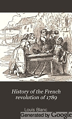 History of the French revolution of 1789.