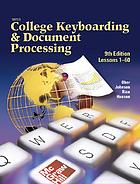 Gregg college keyboarding & document processing : Lessons 1-60