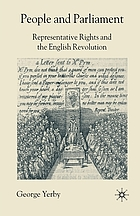 People and parliament : representative rights and the English revolution