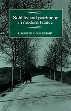 Nobility and patrimony in modern France