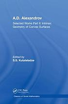 Intrinsic geometry of convex surfaces