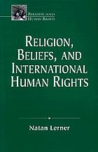 Religion, beliefs, and international human rights