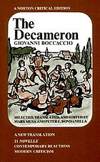 The Decameron : 21 novelle, contemporary reactions, criticism