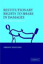 Restitutionary rights to share in damages : carers' claims