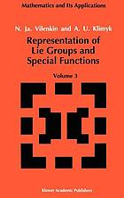 Representation of Lie groups and special functions