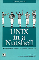 Unix in a nutshell : system V edition revised and expanded for SVR4 and solaris 2.0
