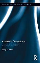 Academic governance : disciplines and policy
