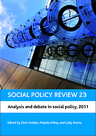 Social policy review. 23, Analysis and debate in social policy, 2011