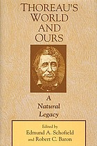 Thoreau's world and ours : a natural legacy