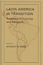 Latin America in transition; problems in training and research.