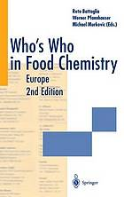 Who's who in food chemistry. Europe