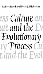 Culture and the evolutionary process