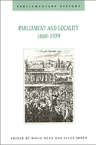 Parliament and locality, 1660-1939