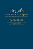 Hegel's introduction to the system : encyclopaedia phenomenology and psychology