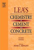 Lea's chemistry of cement and concrete.