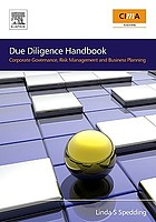 Due diligence handbook : corporate governance, risk management and business planning