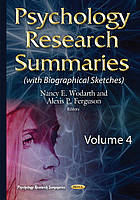 Psychology research summaries. Volume 4