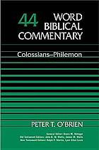Colossians, Philemon