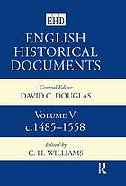 English historical documents, 1485-1558