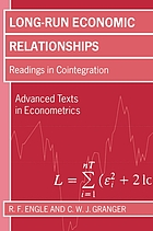 Long-run economic relationships : readings in cointegration