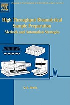 High throughput bioanalytical sample preparation : methods and automation strategies
