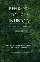 Reference sources in history : an introductory guide