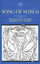Song of songs : a new translation with introduction and commentary