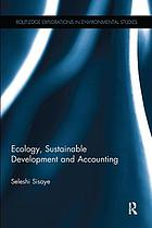 Ecology, sustainable development and accounting