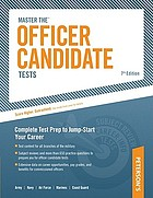 Peterson's Master the officer candidate tests.