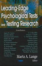 Leading-edge psychological tests and testing research