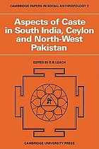 Aspects of caste in south India, Ceylon, and north-west Pakistan