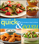 Betty Crocker quick & easy : 30 minutes or less to dinner.