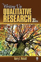 Writing up Qualitative Research cover image