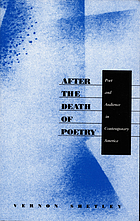 After the death of poetry : poet and audience in contemporary America