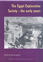 The Egypt Exploration Society : the early years