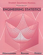 Engineering statistics. Student solutions manual